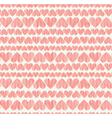 Delicate rose heart seamless background endless vector