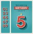 Birthday card invitation editable vector