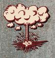 Comic explosion bomb vector