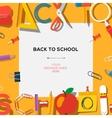 Back to school season sale template with schools vector