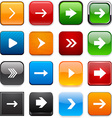 Square color arrow icons vector