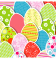 Template egg greeting card vector