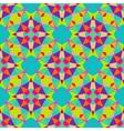 Multicolor geometric pattern in bright color vector