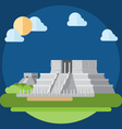 Flat design of chichen itza vector
