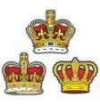 Three british crown vector