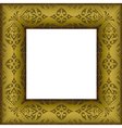 Old beautiful ornated golden antique frame vector
