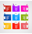 Colorful progress steps for tutorial infographics vector