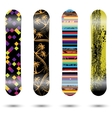 Snowboards vector