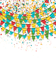 Birthday background with buntings vector
