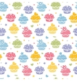Colorful cupcake party seamless pattern background vector