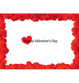 Beautiful valentines day frame vector