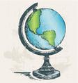 Globe sketch vector