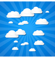 Clouds on blue background vector