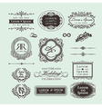 Vintage style wedding monogram symbol border frame vector