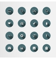 16 office flat icons set vector
