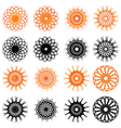 Set of swirl rounded design elements vector
