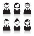 Business people icons set avatars vector