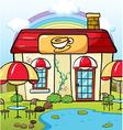 A coffee house vector