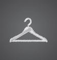 Hanger hat sketch logo doodle icon vector