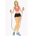 Woman with jumping-rope - vector