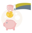 People save their money on the piggy bank vector
