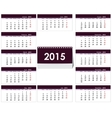 Desk calendar 2015 template vector