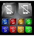 Do not call smartphone signs icon support symbol vector