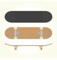 Wood blank skateboard vector