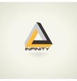 Conceptual infinity symbol icon template logo vector