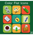 Universal color flat icons vector