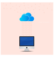 Cloud technology computing background concept vector