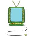 Television cartoon vector
