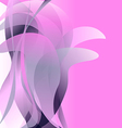 Pink flower isolated abstract background light vector