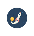 Icon spaceship in space vector