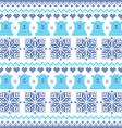 Winter christmas navy blue seamless bear pattern vector
