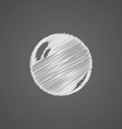 Pearl sketch logo doodle icon vector