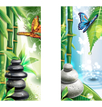 Vertical banners with background of a spa vector