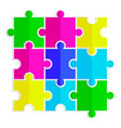 Seamless texture of colored flat puzzle icon vector