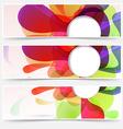 Bright web headers set - abstract liquid vector
