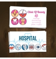 Medical cards set vector