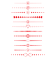 Design elements made of valentines vector