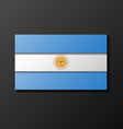 Modern style argentinean flag vector