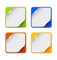 Set of four colorful square banners vector