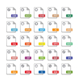 Computer files icons vector