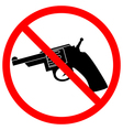 No revolver icon vector