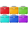 Colorful bags for travelling vector