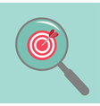 Magnifier and target flat design style vector