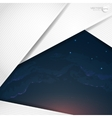 Abstract background with white paper layers vector
