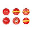Various red discount sale tag icons vector