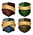Shiny wine label with a gold ribbon vector